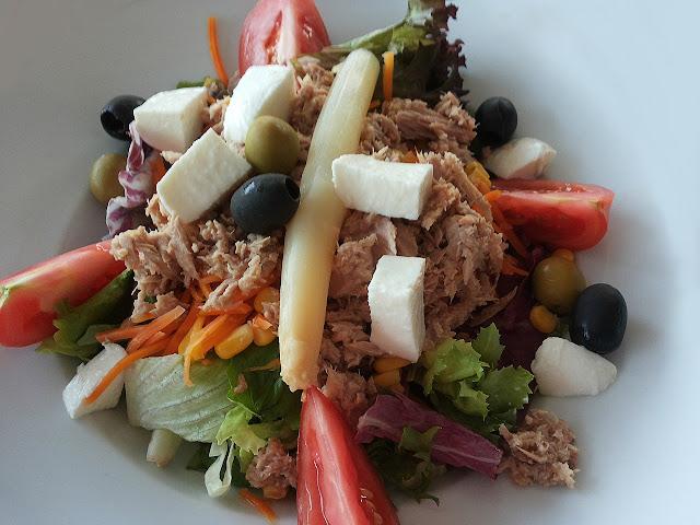 Tuna Salad, Cheese Sticks, Olives, Tomato Wedges