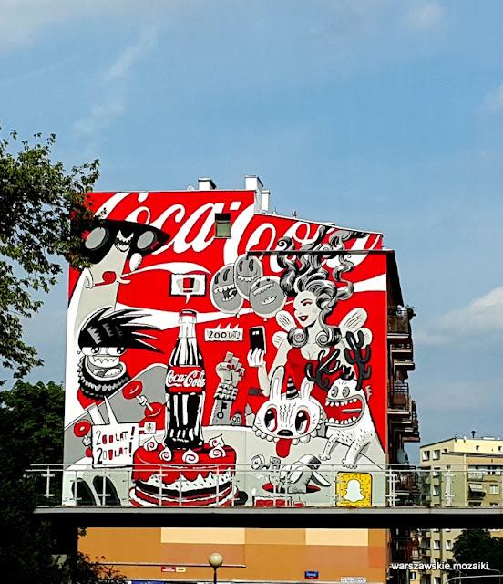 Śródmieście warszawskie murale Warsaw Tamka