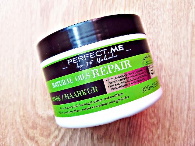 PERFECT.ME, Natural Oils Repair - Maska odbudowująca do włosów suchych, szorstkich i zniszczonych, opakowanie