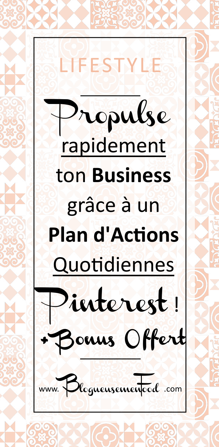 plan d'actions quotidiennes pinterest