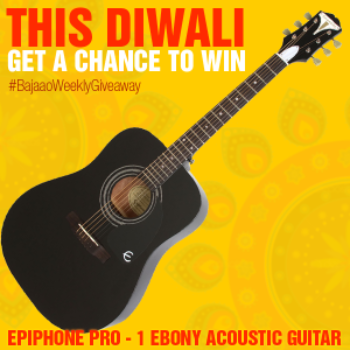 Contest !! This Diwali Get a Chance To Win Epiphone Ebony Acoustic