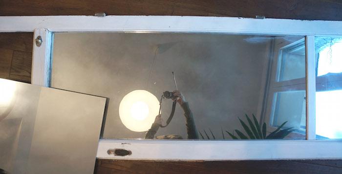 añadir un espejo a una puerta