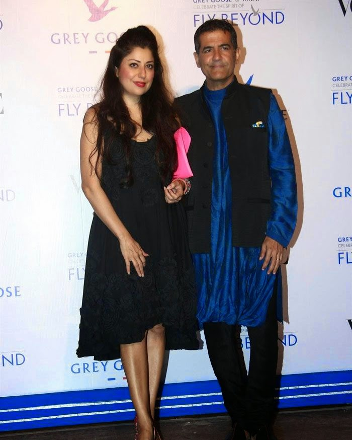 A D Singh, Sabina Singh, Pics from Red Carpet of Grey Goose & Vogue's Fly Beyond Awards 2014