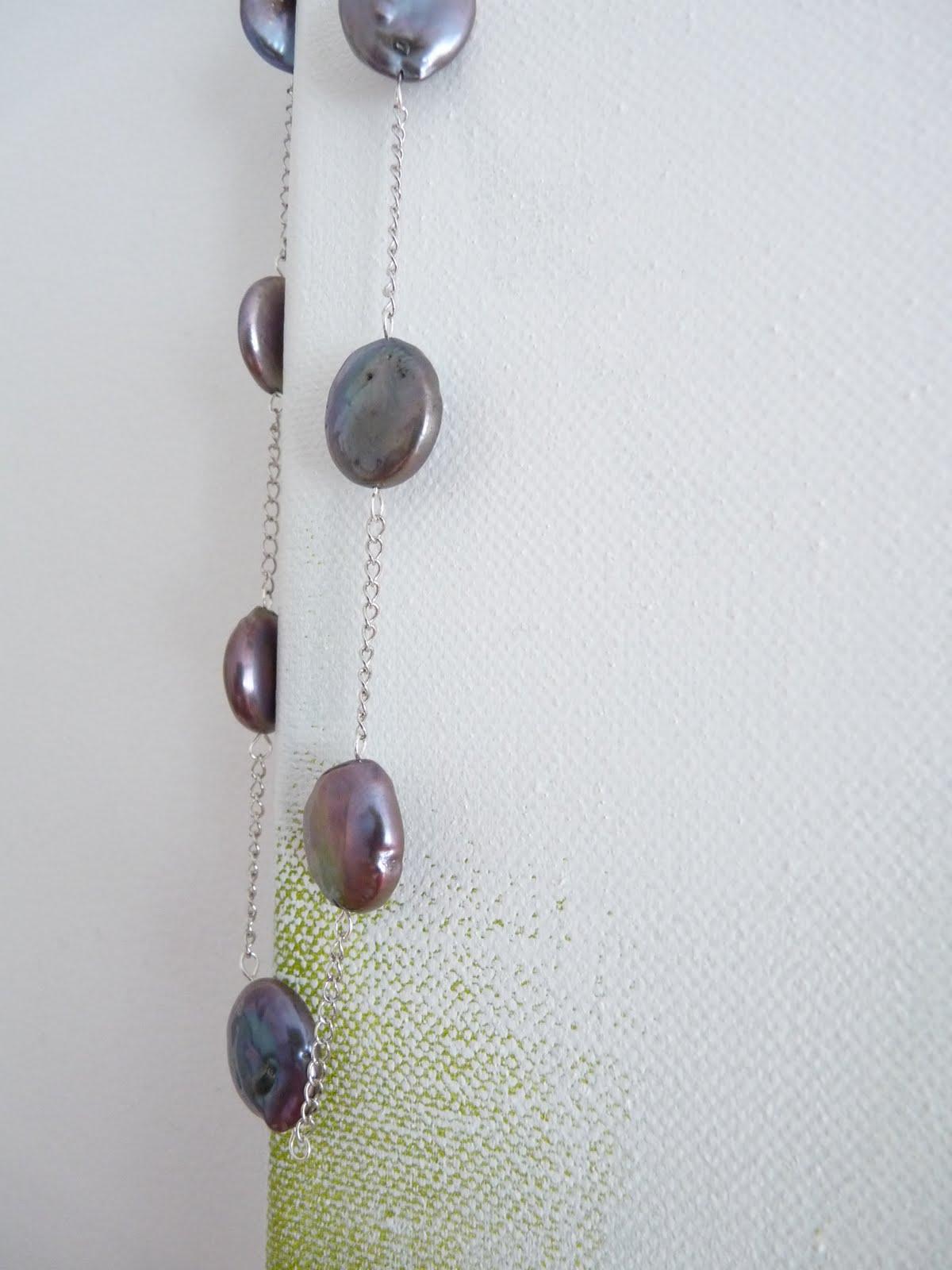DIY Coin pearl necklace