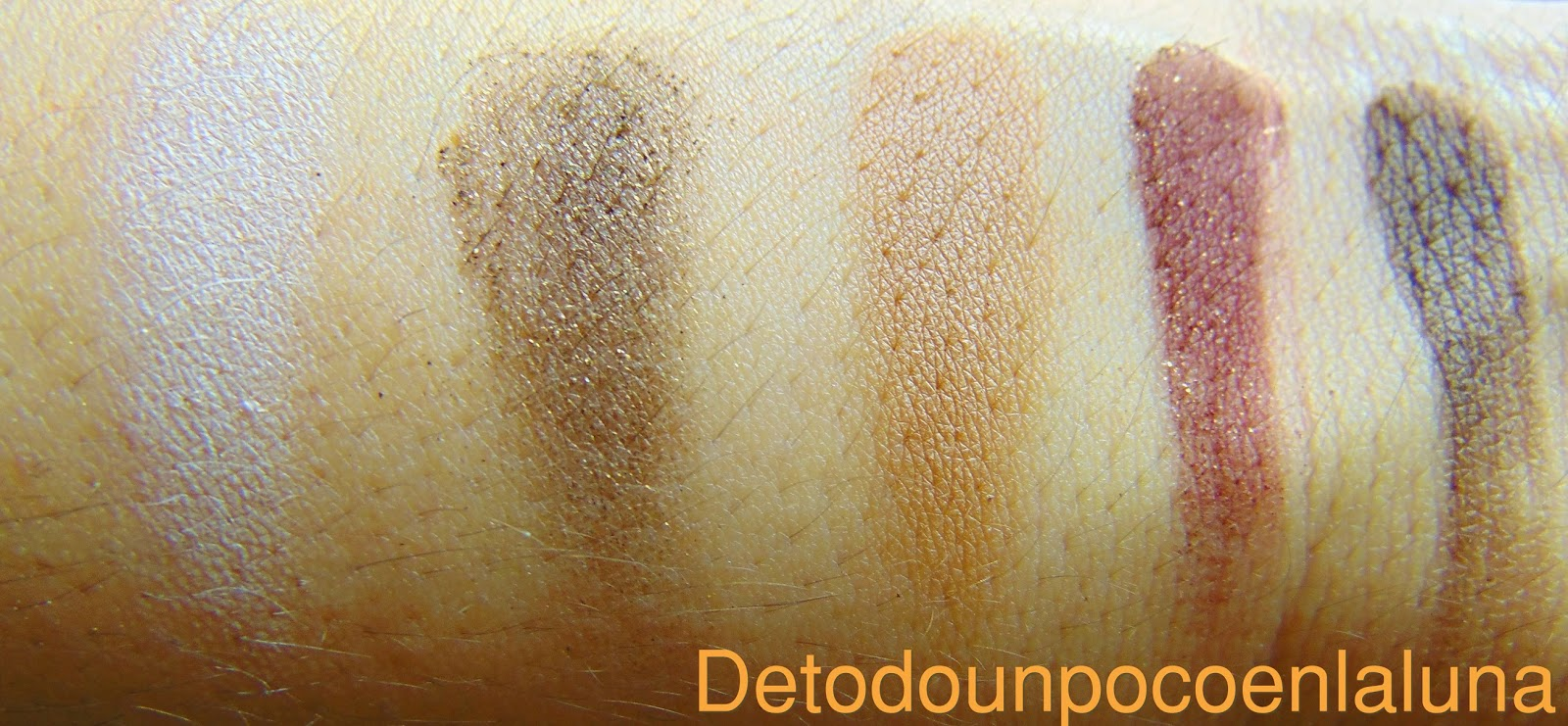 Swatches Paleta I heart Chocolate de I heart makeup