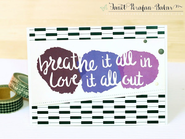 Stationary Card by Janet Perafan-Babar: Clique Kits Northern Lights May 2016 Kit | My Favorite Things: Basic Stitch Lines