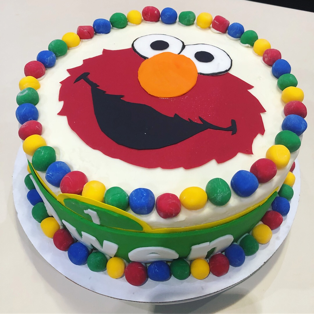 Designed By Diana Elmo Birthday Cake