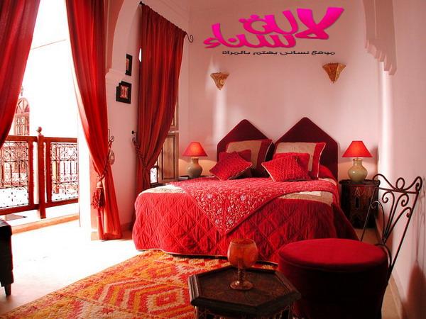 غرف نوم رائعة بطابع تقليدي مغربي