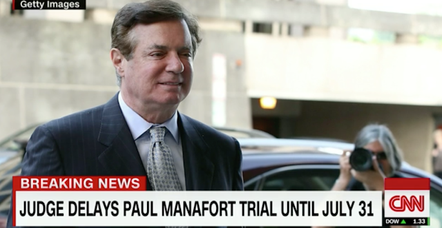 Judge grants immunity for five witnesses in Manafort case; trial delayed until July 31