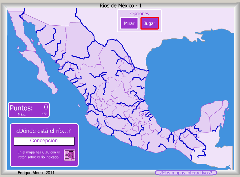 cuarto grado de primaria los ríos de méxico interactivo