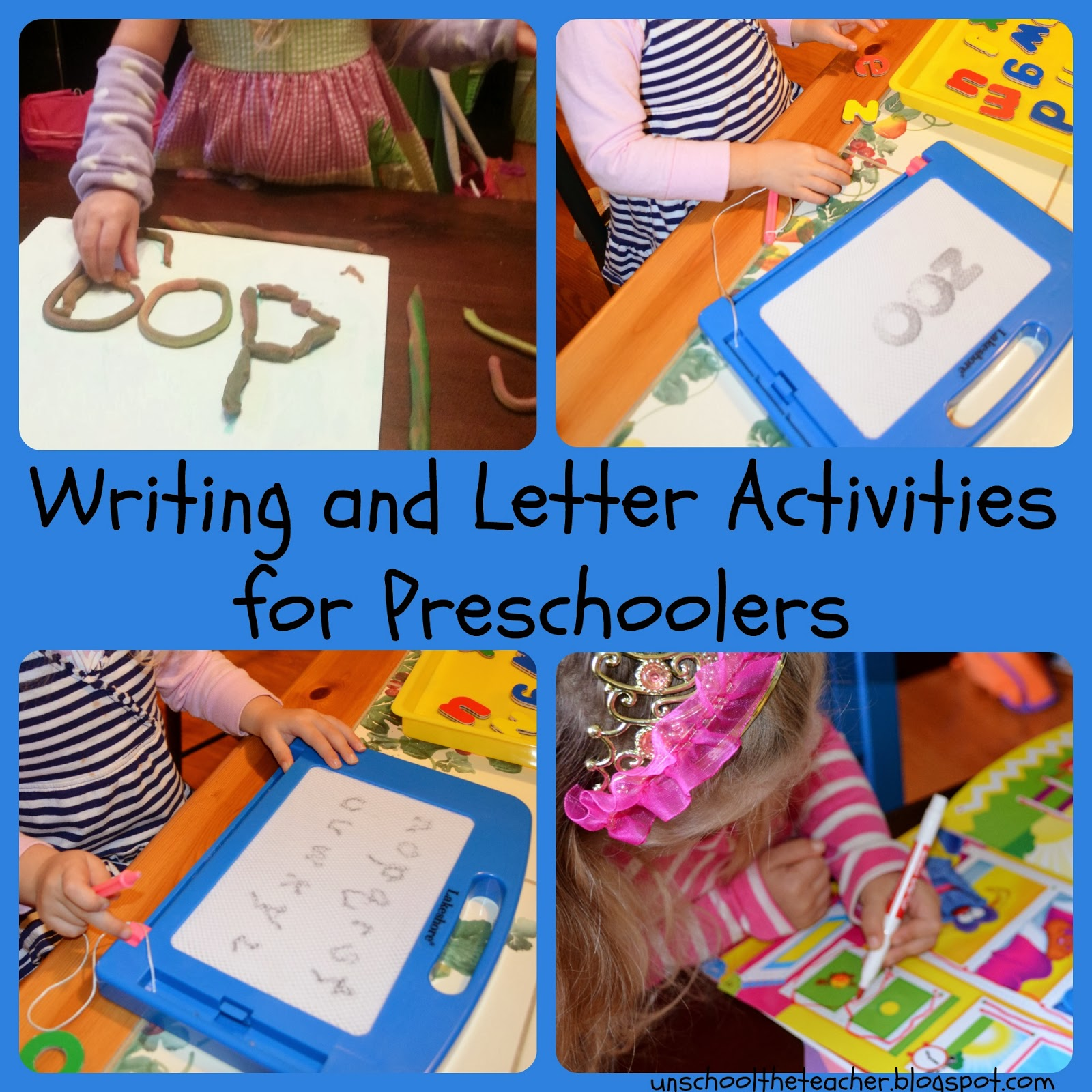 Unschool The Teacher: Easy Early Writing Activities