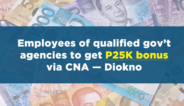 employees of qualified gov t agencies to get p25k bonus via cna diokno deped lp 39 s. Black Bedroom Furniture Sets. Home Design Ideas