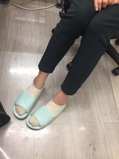 平常也會穿襪子