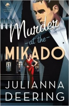 'MURDER AT THE MIKADO,' BY JULIANNA DEERING. Review of the 2014 Drew Fathering (book three) historical fiction mystery. All text © Rissi JC