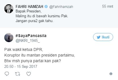 Fahri Sebut Maling Berada di Bawah Kursi Presiden, Netizen: Koruptor itu Mantan Presiden Partaimu
