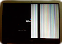 síntoma en pantalla de líneas verticales y mitad con imagen