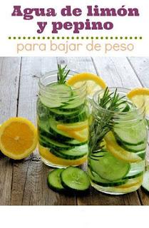 Agua de limón y pepino