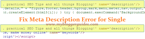 How To Fix Duplicate Meta Description Error in Posts & Homepage