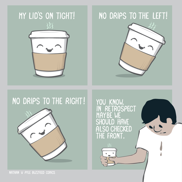 Buzzfeed comic on spilling your coffee