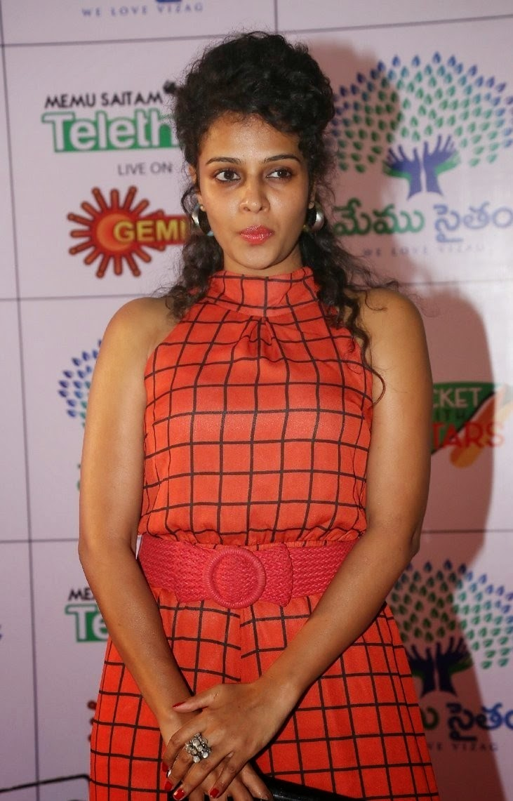 Actress Sonia Latest Cute Hot Exclusive Beautiful Red Dress Spicy Photos Gallery At Memu Saitam Dine With Stars Event