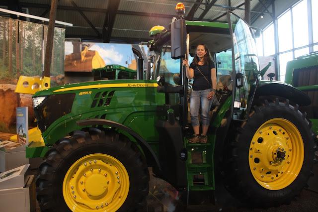 Climbing tractors at John Deere Pavilion