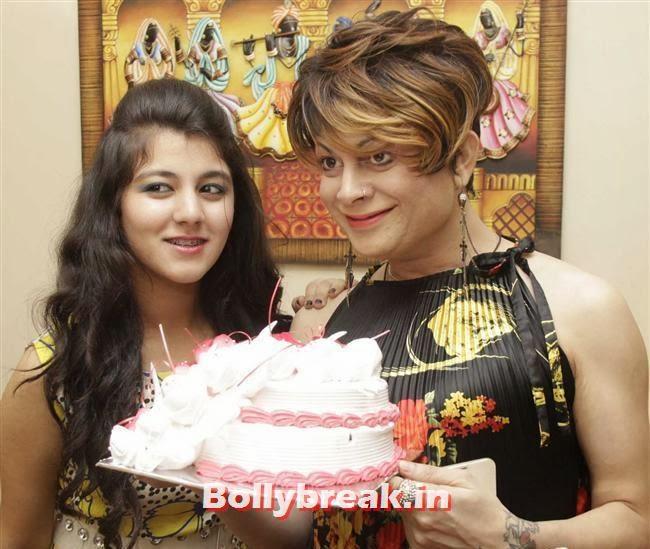 Ananya Chadha with Bobby Darling, Gurpreet Kaur Chadha Birthday Party