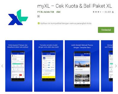 cek nomor xl & axis melalui aplikasi myxl