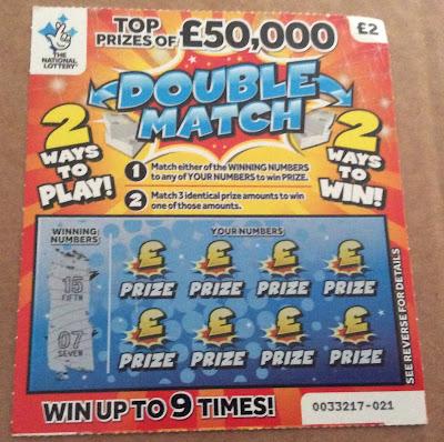 £2 Double Match Scratch Card