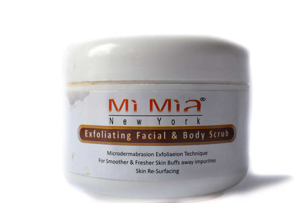 Mi Mia new york exfoliating facial and body scrub