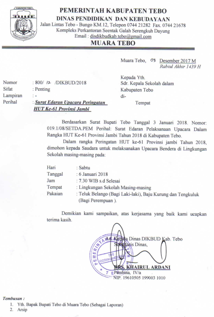 Kop Surat Dinas Pendidikan Provinsi Jambi - Contoh Kop Surat