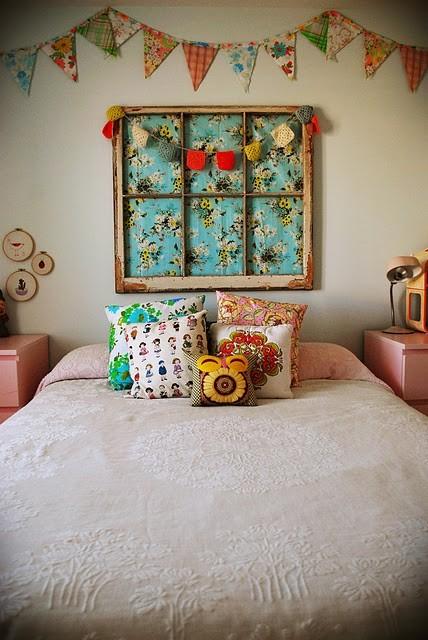 Things to sew - vintage sheet garland