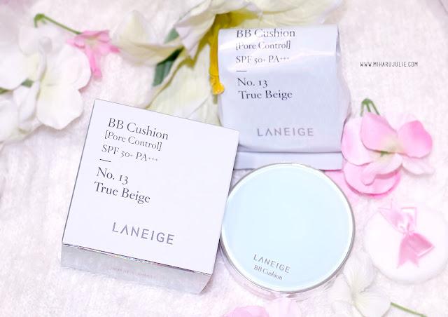Laneige BB Cushion Pore Control SPF 50+ No 13 True Beige Review