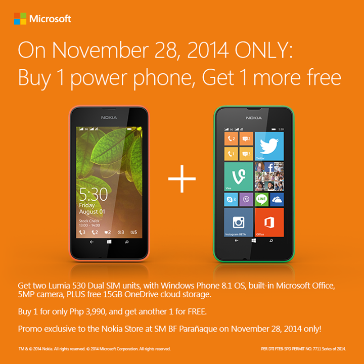 Nokia Lumia 520 Buy 1 Take 1 Promo