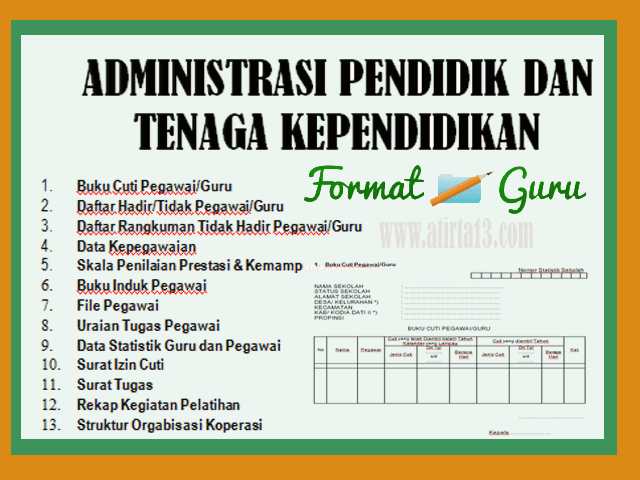 Download Administrasi Pendidik & Tenaga Kependidikan Format Words