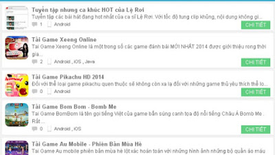 SHARE TEMPLATE WAP TẢI GAME TAIVL |  Phố Nhỏ Blog