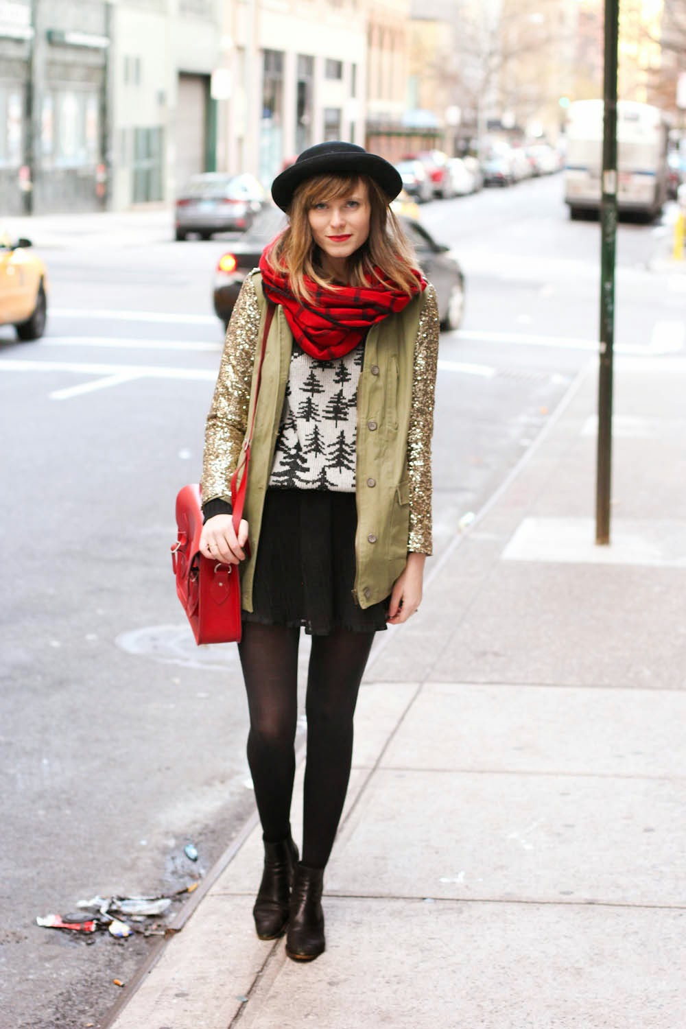 vintage fashion blog, nyc vintage blog, nyc christmas day, j.crew cabin sweater