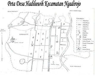 Peta Desa Hadiluwih Ngadirojo Pacitan