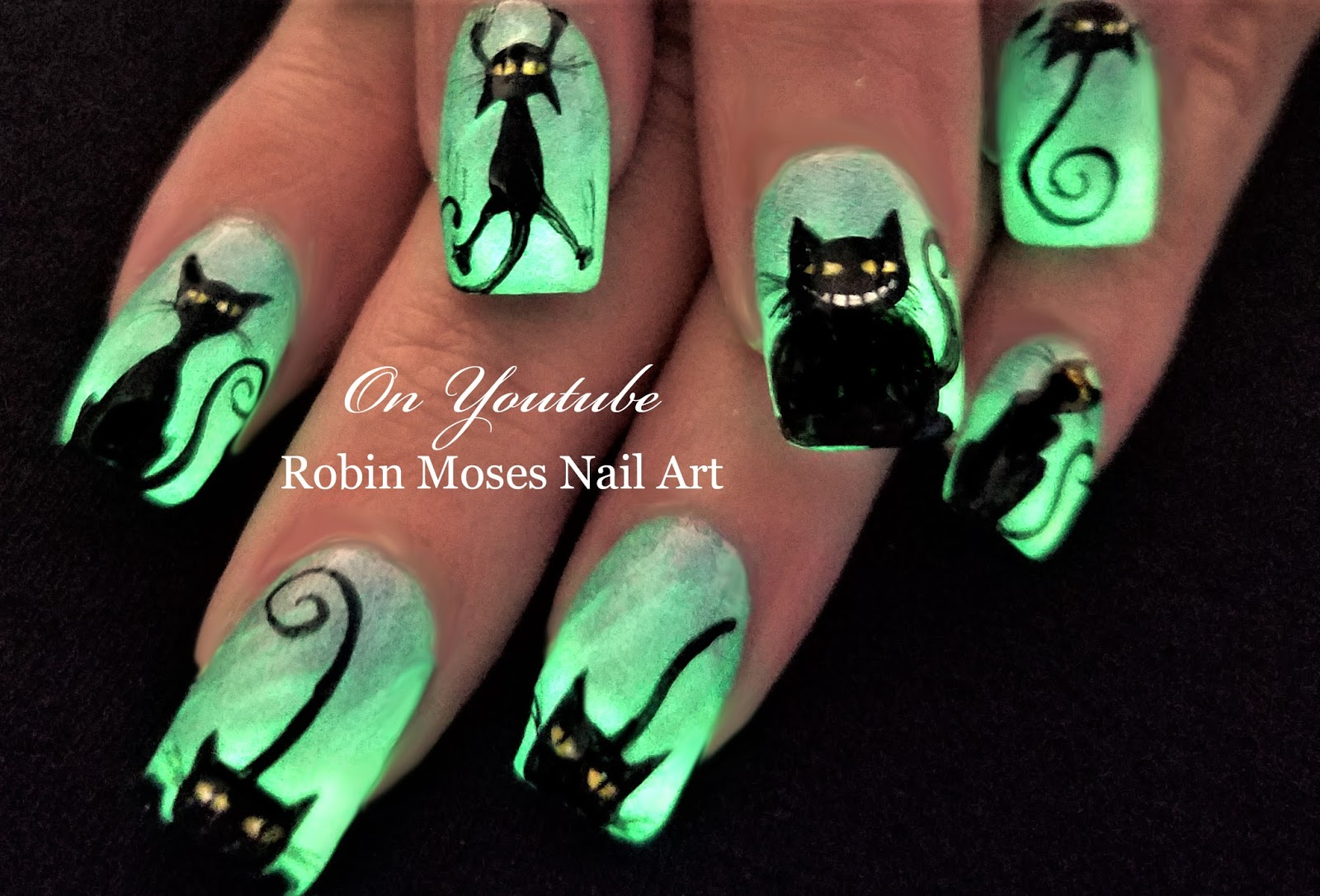 Nail Art by Robin Moses: Spider Nails! Easy 3d Halloween 2017 Glow ...