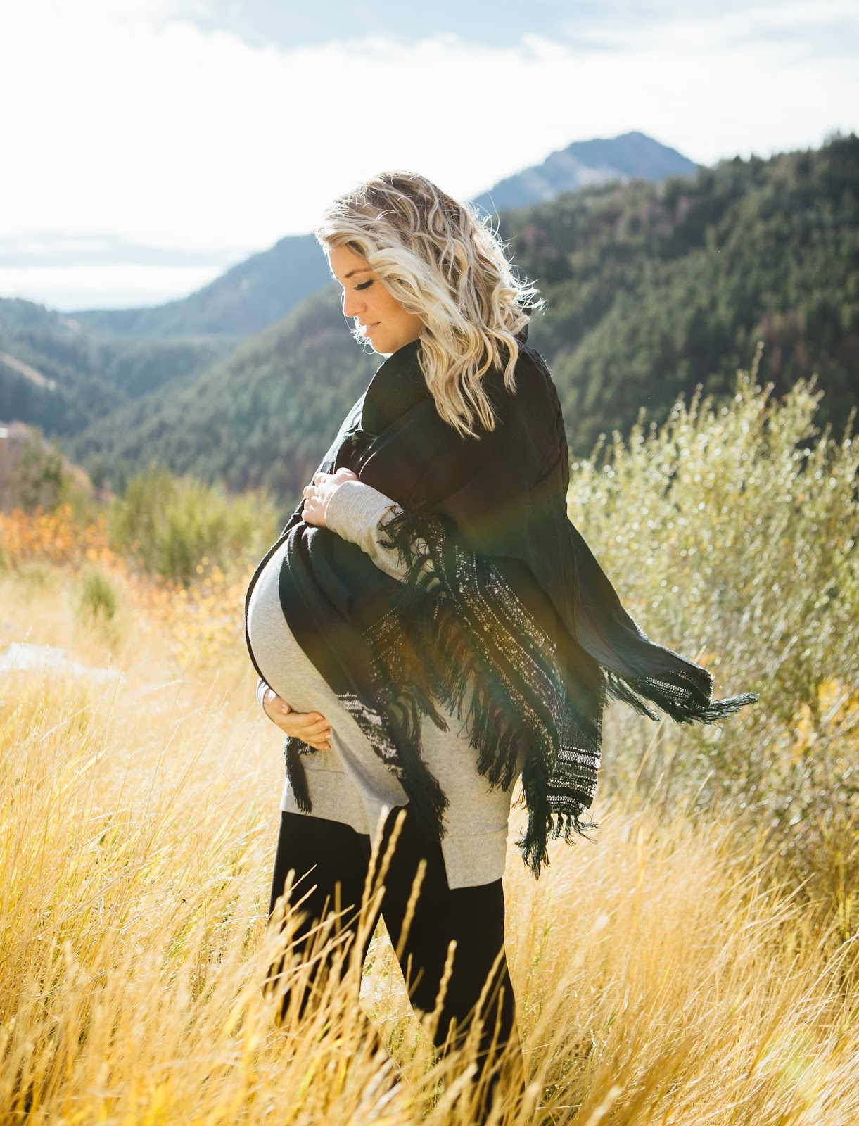 Poncho, Sweater Tunic, Pregnant Style, The High Pines