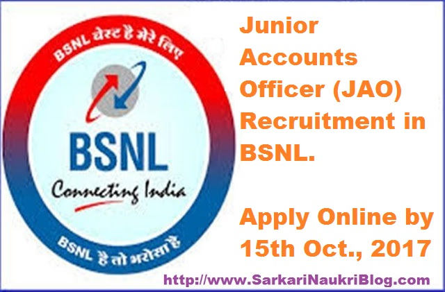 Sarkari Naukri Vacancy Recruitment JAO BSNL