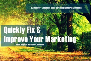 Quickly fix & improve your marketing - eBook