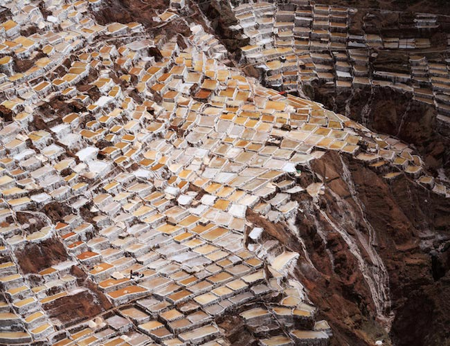 Xvlor Salinas de Maras is salt-making field since pre-Inca in Sacred Valley