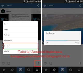 proses download foto dan video instagram plus