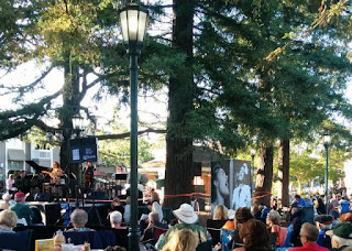 Paula West performing at Jazz on the Plazz, Los Gatos, California