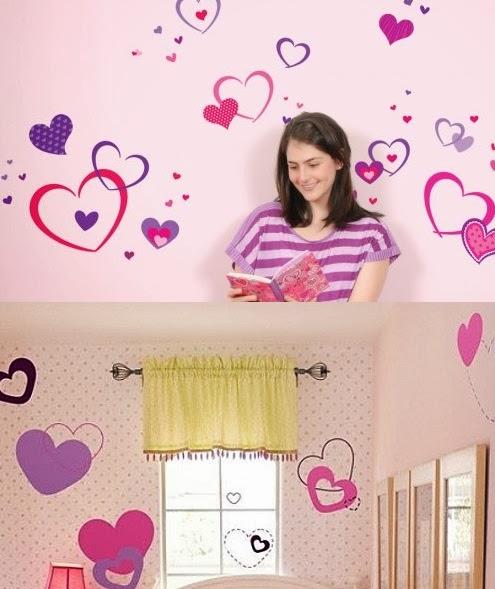 Decoraci n de las paredes del dormitorio infantil for Vinilos para pared dormitorio juvenil