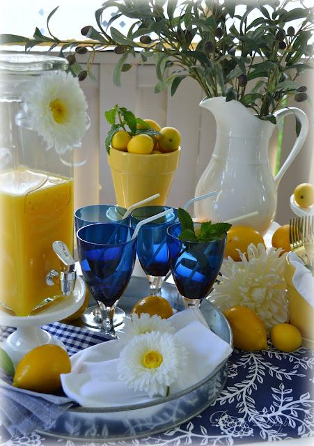 Dining Delight Cobalt Blue Lemon Yellow Table Some Easy