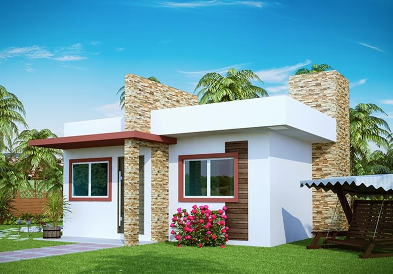Fachadas para casas pequenas e modernas 40 fotos toda - Casas economicas y modernas ...