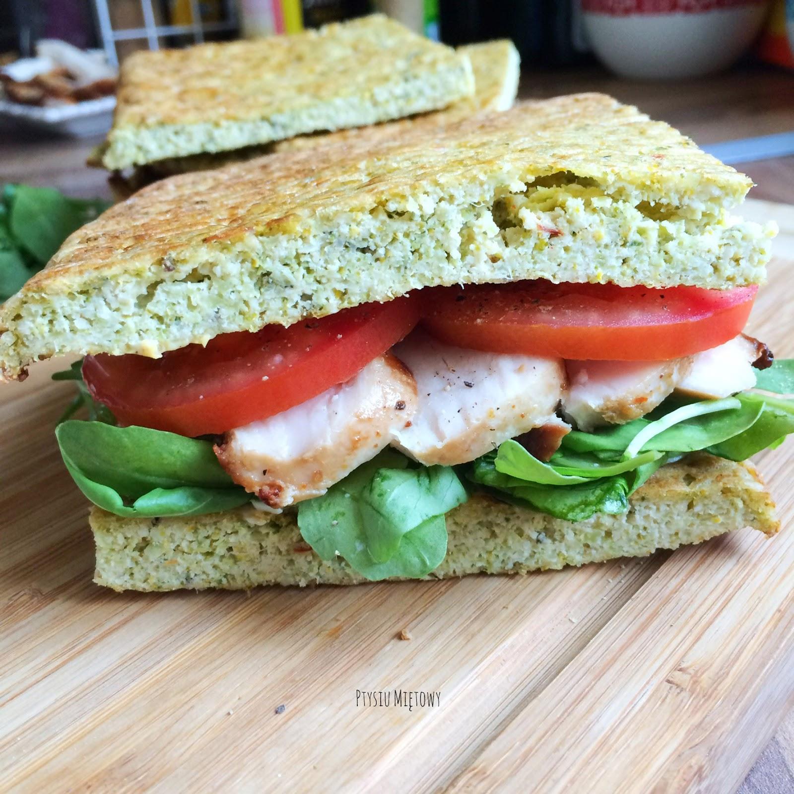 chleb brokulowy, ptysiu mietowy