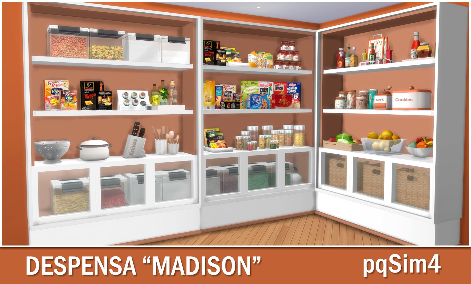 "sims 4 cc's - the best: pantry ""madison"" by pqsim4, Badezimmer ideen"