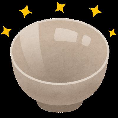 綺麗なお茶碗のイラスト
